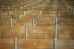 Priorità bassa dei banchi di legno Immagini Stock