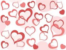 Priorità bassa dei biglietti di S. Valentino illustrazione vettoriale