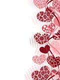 Priorità bassa dei biglietti di S. Valentino Immagini Stock