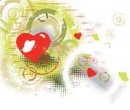 Priorità bassa dei biglietti di S. Valentino Immagine Stock Libera da Diritti
