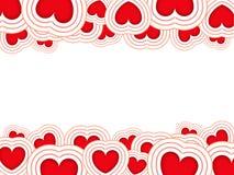 Priorità bassa dei biglietti di S. Valentino Fotografia Stock Libera da Diritti