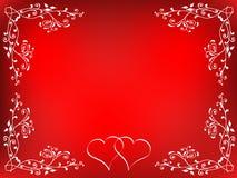 Priorità bassa dei biglietti di S. Valentino Fotografie Stock