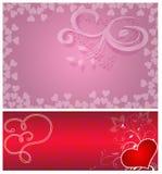 Priorità bassa dei biglietti di S. Valentino Fotografia Stock