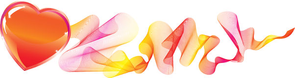 Priorità bassa dei biglietti di S. Valentino con cuore Fotografia Stock Libera da Diritti