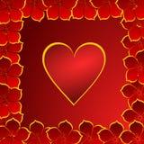 Priorità bassa dei biglietti di S. Valentino con i cuori Fotografia Stock Libera da Diritti