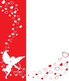 Priorità bassa dei biglietti di S. Valentino di eros Immagine Stock