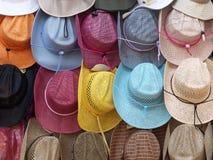 Priorità bassa dei cappelli Fotografia Stock