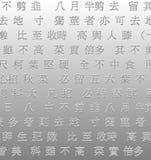 Priorità bassa dei caratteri cinesi Fotografia Stock Libera da Diritti