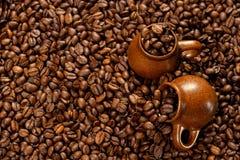 Priorità bassa dei chicchi di caffè Immagini Stock
