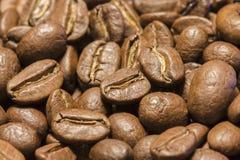 Priorità bassa dei chicchi di caffè Fine in su Immagine Stock Libera da Diritti