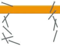 Priorità bassa dei chiodi e di legno Immagine Stock Libera da Diritti