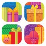 Priorità bassa dei contenitori di regalo Immagini Stock