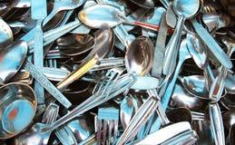 Priorità bassa dei cucchiai Immagine Stock