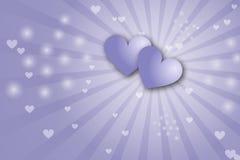 Priorità bassa dei cuori - tema del biglietto di S. Valentino illustrazione di stock