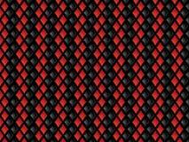 Priorità bassa dei diamanti rossi e neri Fotografia Stock