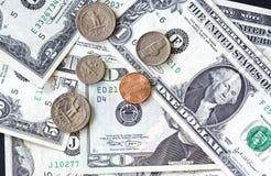 Priorità bassa dei dollari degli S.U.A. Fotografie Stock Libere da Diritti