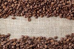 Priorità bassa dei fagioli di Coffe Fotografie Stock