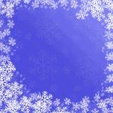 Priorità bassa dei fiocchi di neve Immagine Stock