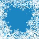 Priorità bassa dei fiocchi di neve. Immagini Stock
