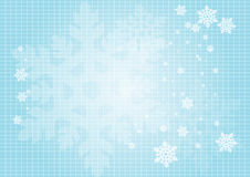 Priorità bassa dei fiocchi di neve Fotografie Stock