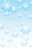 Priorità bassa dei fiocchi di neve di inverno illustrazione di stock