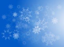 Priorità bassa dei fiocchi di neve di vettore Fotografie Stock