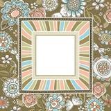 Priorità bassa dei fiori con il blocco per grafici quadrato, vettore Fotografie Stock