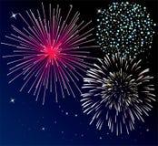 Priorità bassa dei fuochi d'artificio illustrazione vettoriale