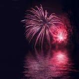 Priorità bassa dei fuochi d'artificio fotografia stock