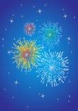 Priorità bassa dei fuochi d'artificio Fotografia Stock Libera da Diritti