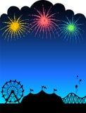 Priorità bassa dei fuochi d'artificio di carnevale illustrazione di stock