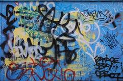 Priorità bassa dei graffiti Fotografia Stock Libera da Diritti