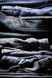 Priorità bassa dei jeans Fotografia Stock Libera da Diritti