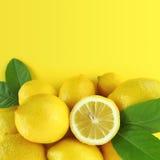 Priorità bassa dei limoni Fotografie Stock Libere da Diritti