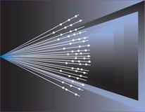 Priorità bassa dei raggi luminosi illustrazione vettoriale