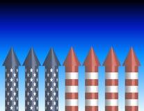 Priorità bassa dei razzi della bottiglia Fotografia Stock Libera da Diritti