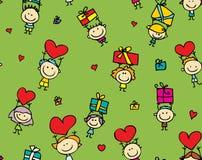 Priorità bassa dei regali dei biglietti di S. Valentino Fotografia Stock