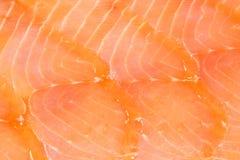 Priorità bassa dei salmoni affumicati immagini stock