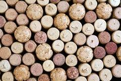 Priorità bassa dei sugheri del vino Fotografia Stock Libera da Diritti