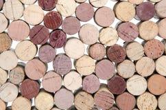 Priorità bassa dei sugheri del vino Fotografie Stock
