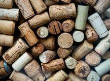 Priorità bassa dei sugheri usati del vino Immagine Stock