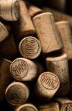 Priorità bassa dei sugheri usati del vino Immagine Stock Libera da Diritti