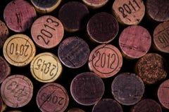 Priorità bassa dei sugheri usati del vino Fotografie Stock