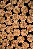 Priorità bassa dei sugheri usati del vino Fotografia Stock Libera da Diritti