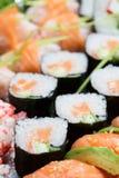 Priorità bassa dei sushi Fotografia Stock