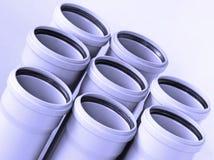 Priorità bassa dei tubi per fognatura Fotografie Stock Libere da Diritti