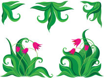 Priorità bassa dei tulipani di Ddecorative Immagini Stock Libere da Diritti
