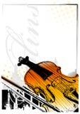 Priorità bassa dei violini Immagini Stock