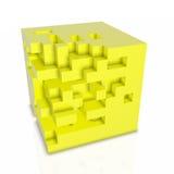 priorità bassa del abstarct 3D - cubi isolati su bianco Fotografie Stock Libere da Diritti