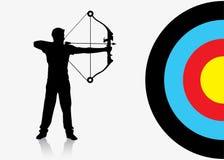 Priorità bassa del archer di sport Fotografia Stock